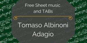 adagio free guitar pdf