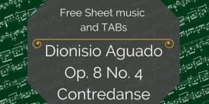 aguado contredanse free guitar