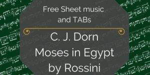 Dorn Rossini guitar arrangement