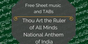 India national anthem free guitar