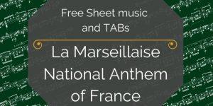 La Marseillaise for Guitar