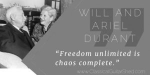 Will Ariel Durant freedom practice