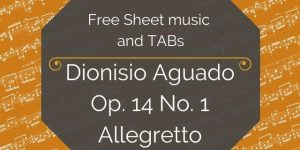 aguado free guitar music