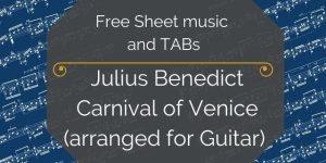 carnival free sheet music