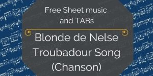 Troubadour songs for guitar