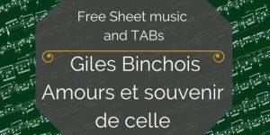 binchois free guitar pdf