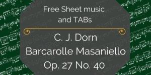 Dorn free guitar music
