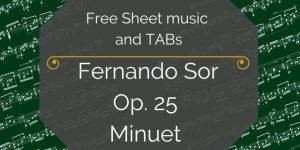 Sor free guitar music