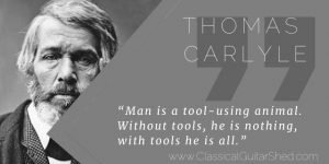 Thomas Carlyle using practice tools