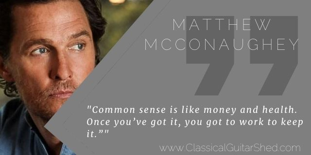 """Featured image for """"Matthew McConaughey on Keeping Common Sense"""""""