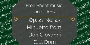 Don Giovanni free guitar