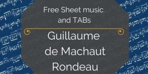 Machuaut free guitar tabs