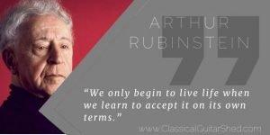 Arthur Rubenstein on accepting life