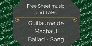 machaut music for guitar