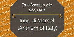 national anthem of italy guitar pdf