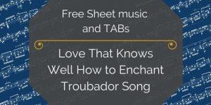 troubador songs for guitar