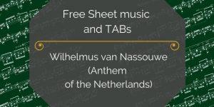 National Anthem of the Netherlands Guitar Free PDF