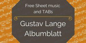 Lange albumblatt for guitar
