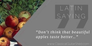 Latin Saying on Apples