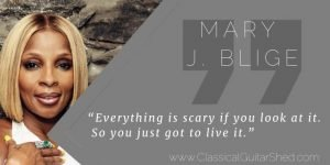Mary J. Blige on scary things and keeping going