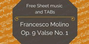 Francesco Molino Op. 9 No. 1 Guitar