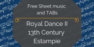 renaissance music royal dance II guitar