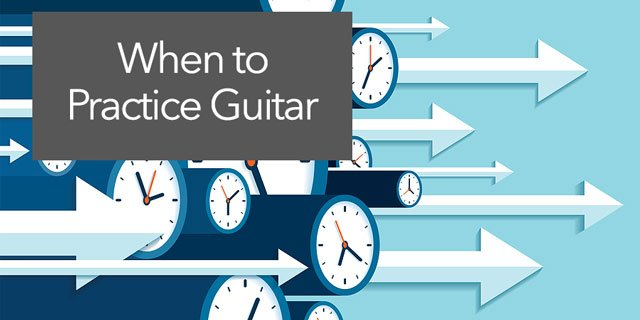 """Featured image for """"When is the Best Time to Practice Guitar?"""""""