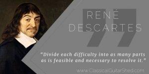 Rene Descartes Tuesday Quote Elemental Guitar Practice