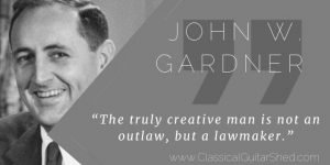 John W. Gardner on Creativity and Musical Creation Tuesday Quote