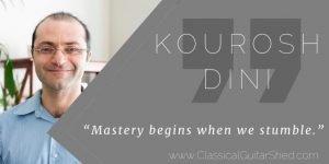 kourosh dini stumbling mastery quote
