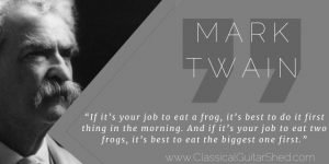 Tuesday Quote Mark Twain Frogs and Guitar