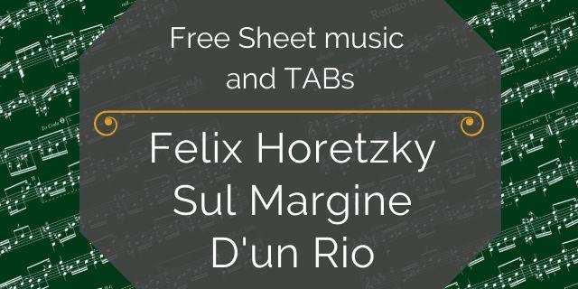 """Featured image for """"Horetzky, Felix – Sul Margine D'un Rio"""""""