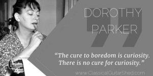 Dorothy Parker Boredom Guitar