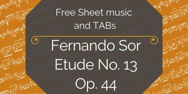 "Featured image for ""Sor, Fernando – Etude No. 13, Op. 44"""