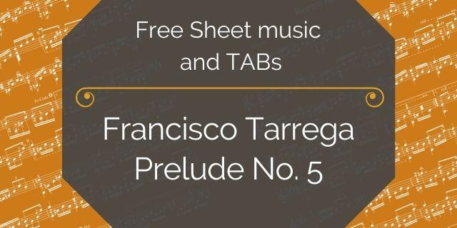"Featured image for ""Tarrega, Francisco – Prelude No. 5"""