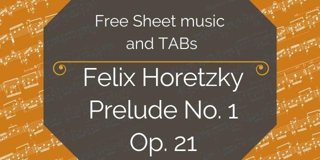 "Featured image for ""Horetzy, Felix – Prelude No. 1, Op. 21"""