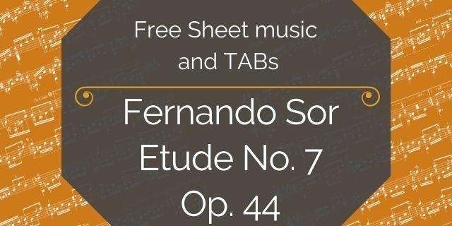 "Featured image for ""Sor, Fernando – Etude No. 7, Op. 44"""