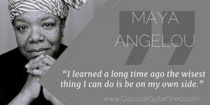 Maya Angelou Success Guitar