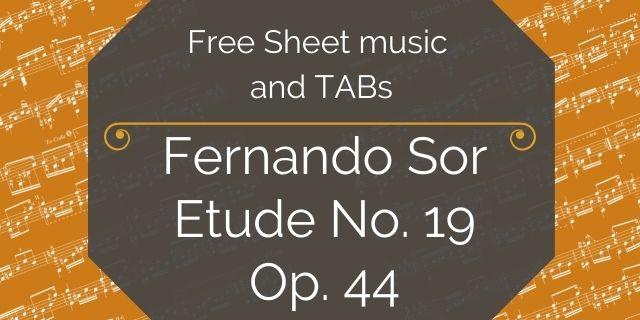 "Featured image for ""Sor, Fernando – Op. 44 – Etude No. 19"""