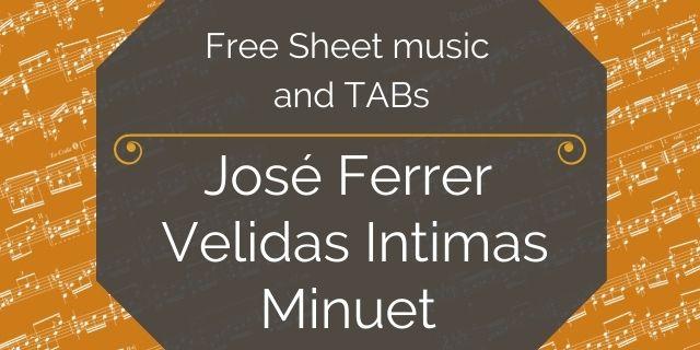 "Featured image for ""Ferrer, Jose – Op. 17 – No. 2 – Minuet"""