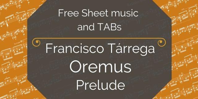 "Featured image for ""Tarrega, Francisco – Oremus"""